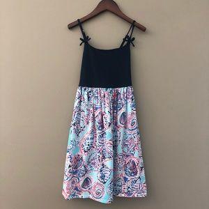Lilly Pulitzer Girl Navy Print Sun Dress 12 14